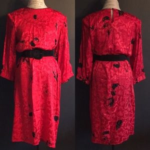 Vintage Flora Kung Silk Dress